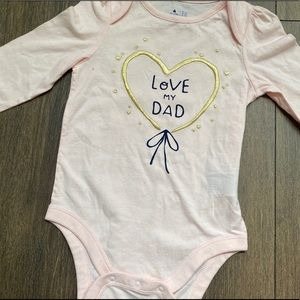 "NEW BabyGap ""Love My Dad"" long sleeve bodysuit"